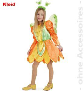 Kinder Kostüm Schmetterling Kleid Karneval Fasching Gr.128