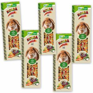 Nestor Futtersticks für große Nager + Kaninchen XXL mit Gemüse + Honig 5x2 Sticks