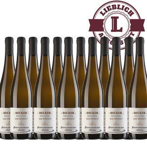 Weißwein Rheinhessen Gewürztraminer Weingut Becker Auslese lieblich (12 x 0,75 l)
