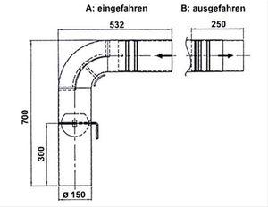 Ofenrohr / Rauchrohr Set1 Fullform Schieberohr Ø150mm Senoth. schwarz