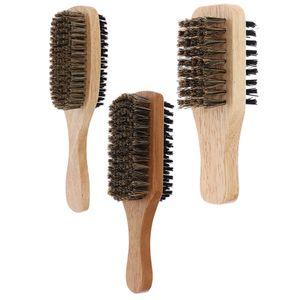 3 Stück Schnurrbart Bart Bürste 2 Seiten Mit Holzgriff Für Die Pflege