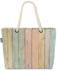 VOID Pastell Bretter Strandtasche Shopper 58x38x16cm 23L XXL Einkaufstasche Tasche Reisetasche Beach Bag