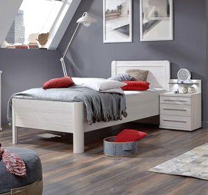 WIEMANN Komfortbett Seniorenbett Nachtschrank LED Mainau 140x200