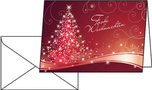 "sigel Weihnachtskarte ""Christmas Swing"" A6 (A5) 25 Karten + 25 Umschläge"