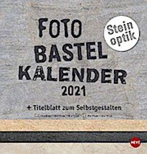 Bastelkalender Natur Steinoptik 2021