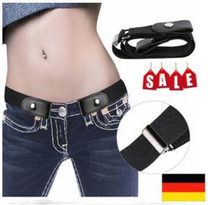 Unsichtbar Gürtel Elastischer Stretchgürtel ohne Schnalle für Damen Herren Jeans Hosen Justierbar Stretchgürtel Gürtel