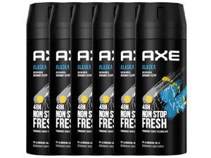 AXE Alaska Deo 6x 150ml Deospray Deodorant Bodyspray ohne Aluminium Herren Männer Men