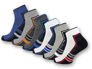 6 oder 12 Paar SPORT Sneaker Socken Herren Damen Sportsocken Frotteesohle Baumwolle 16215/20 - 6 Paar 43-46