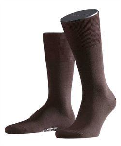 FALKE Herren Socken - Airport, Kurzstrumpf, Freizeit- und Business-Socken, Unifarben Brown (5930) 47-48 (UK 11.5-12.5)