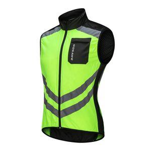 Reflektierende Weste Radweste Windweste Laufweste für Laufen Jogging Radfahren Grün Grün XL