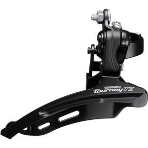 Shimano Tourney TZ FD-TZ510 Umwerfer 3-fach vorne 6/7-fach Fahrrad Schaltung Down Swing, Ausführung:Down Pull 31.8 mm