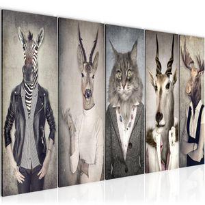 Tiere Abstrakt BILD 150x60 cm − FOTOGRAFIE AUF VLIES LEINWANDBILD XXL DEKORATION WANDBILDER MODERN KUNSTDRUCK MEHRTEILIG 018356a