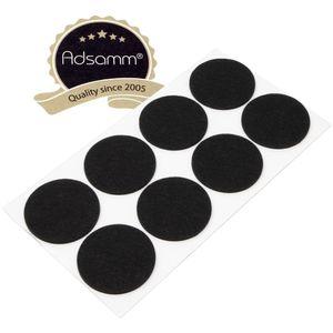 8 x Filzgleiter | Ø 60 mm | Schwarz | rund | 3.5 mm starke selbstklebende Filz-Möbelgleiter in  von Adsamm®
