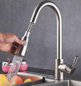 VENTCY Küchenarmatur Ausziehbar Wasserhahn Küche Armatur Küche 360° Drehbar Wasserhahn Küche SUS304 Küchenwasserhahn