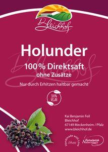 Bleichhof Holundersaft – 100% Direktsaft, vegan, OHNE Zuckerzusatz, Bag-in-Box mit Zapfsystem (1x 5l Saftbox)
