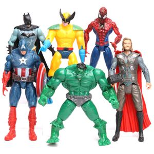 6 Stück / Los Avengers 2 Hulk Spider-Man Iron Man Figur Spielzeug Captain America