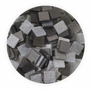 Creleo - Mosaiksteine 10x10mm Glitter Mix grau 190 Stück 45 g