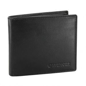 WENGER Herren-Portemonnaie aus Nappa-Leder H 9,5 x B 11 x T 2 cm, Farbe Schwarz