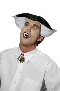 Herren Perücke Vampir Graf Dracula Halloween Karneval Fasching