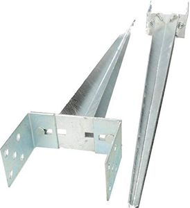 KOTARBAU® Pfostenträger 0 – 160 mm Verstellbar Feuerverzinkt Einschlaghülse Pfostenträger Bodenhülse Einschlagbodenhülse Pfosten Anker Stahl Silber