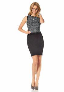 Marc New York Marken-Strickkleid, schwarz-silber Kleider Größe: S