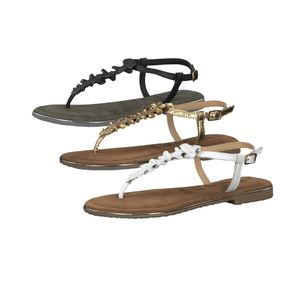 Tamaris Damen Riemchensandale Schwarz Schuhe, Größe:36