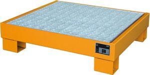 Bauer GmbH Auffangwanne lackiert mit Gitterrost AW 60-2/M, lackiert orange RAL 2000