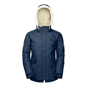 JACK WOLFSKIN Girls Great Bear Jacket - Winterjacke, Größe_Bekleidung_Kinder:116, Wolfskin_Farbe:dark sky