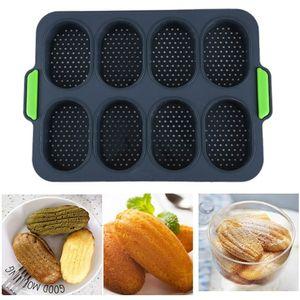 Baguette Backblech 8 Einheiten Silikon Backform,Brötchen Backform,Antihaft-Backblech,French-Bread (Mit Köstlichen Knusprigen Krusten) Grun