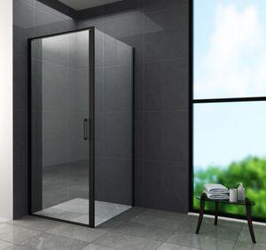 Duschkabine CASSETTA (schwarz) 80 x 80 x 195 cm