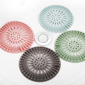 Haobuy Abflusssiebe, 4 Stück Silikon Abflussfilter für Spülbecken, Wiederverwendbare Siebgewebe Haarfänger Abflussstopper für Bad Küche