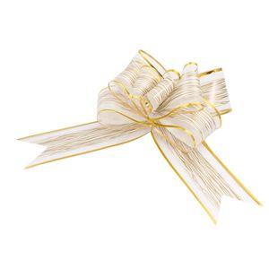 Oblique Unique Geschenkschleife Deko Schleifen für Geschenke uvm - creme gold
