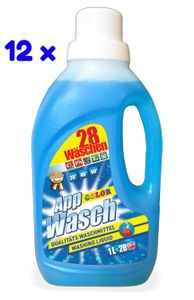 AppWasch® - Color Waschmittel Gel, 12-er Pack 1L (1 x 336 Waschladungen) 0,08 EUR/ Waschladung