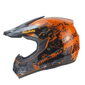 Racing Crosshelm für Kinder orange Motocrosshelm Helm Kinderhelm Endurohelm XS