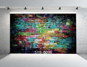 PKQWTM 150x220 cm Chromatische Backsteinmauer Fotohintergründe Studio Hintergrund Studio Requisiten