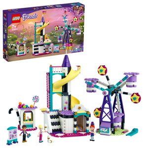 LEGO 41689 Friends Magisches Riesenrad mit Rutsche, Freizeitpark mit Zaubertricks für Kinder, Vergnügungspark