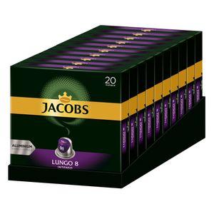 Jacobs Lungo 8 Intenso, Kaffeekapseln, Nespresso Kompatibel, Kaffee, 200 Kapseln, á 5.2 g