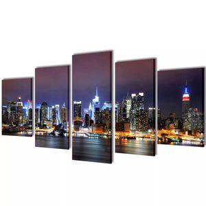 vidaXL Bilder Dekoration Set New York in Farbe 200 x 100 cm