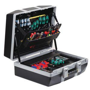 raaco Werkzeugkoffer XL-23 / 6F B485xT215xH410mm Tragfähigkeit 45kg 23 Einsteckfächer 6 Werkzeughalter - 139816