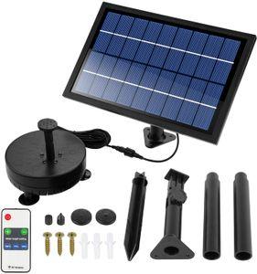 8W Solar Springbrunnen LED Teichpumpe Tauchpumpe Kit mit LED Beleuchtung & Akku & Fernbedienung