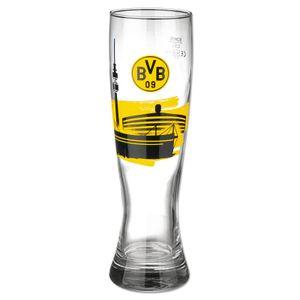 BVB 09 BVB Weizenbierglas gelb schwarz -