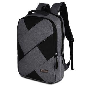 Vegmann AV025 Laptop Notebook Rucksack mit Laptop Fach 15.6 Zoll   Wasserdicht Laptop Tasche   44 cm   20 Liter   Schwarz und Grau