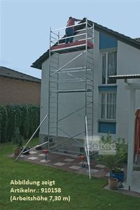 KRAUSE ProTec Alu FahrGerüst 2,90m bis 12,30m Arbeitshöhe, Arbeitshöhe:10.30 Meter
