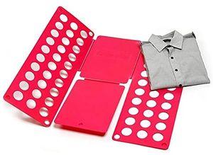 RHP Pullover Hosen Hemden Wäsche Kinder- und Erwachsen-Faltbrett Falthilfe für Wäsche Kleidung T Shirt Falten Zusammenlegen Wäschefaltbrett Hemdenfalter Wäschefalter für Kleidung Aller Art - Pink
