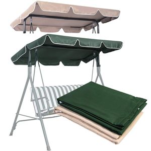 COSTWAY Sonnendach Ersatzdach Dachbezug Dachplane fuer Hollywoodschaukel Gartenschaukel Beige