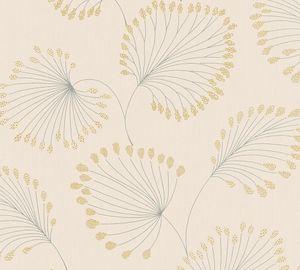 Architects Paper Vliestapete Alpha Ökotapete beige metallic 10,05 m x 0,53 m 333712 33371-2