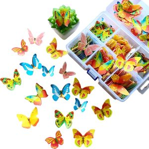 CANDeal 360 stücke Schmetterling Kuchen Dekoration essbare kuchendeckel niedlich Wafer Papier 3D Schmetterlinge kuchendeckel Dekoration für Cupcakes hochzeitstorten