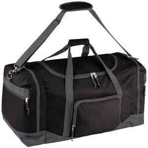 tectake Reisetasche mit Schultergurt 90 Liter - schwarz