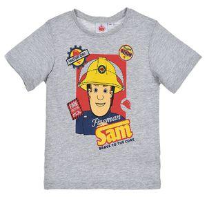 Feuerwehrmann Sam Jungen T-Shirt Kurzarmshirt mit Print, grau, Größe:110
