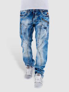 Cipo & Baxx Männer Straight Fit Jeans Sinno in blau Cipo & Baxx
